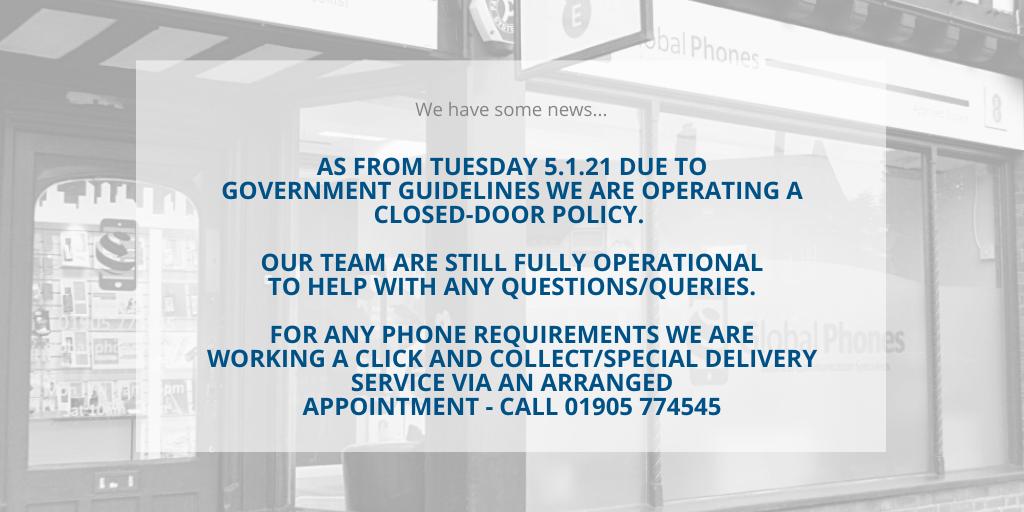 Global Phones announcement 5.1.21